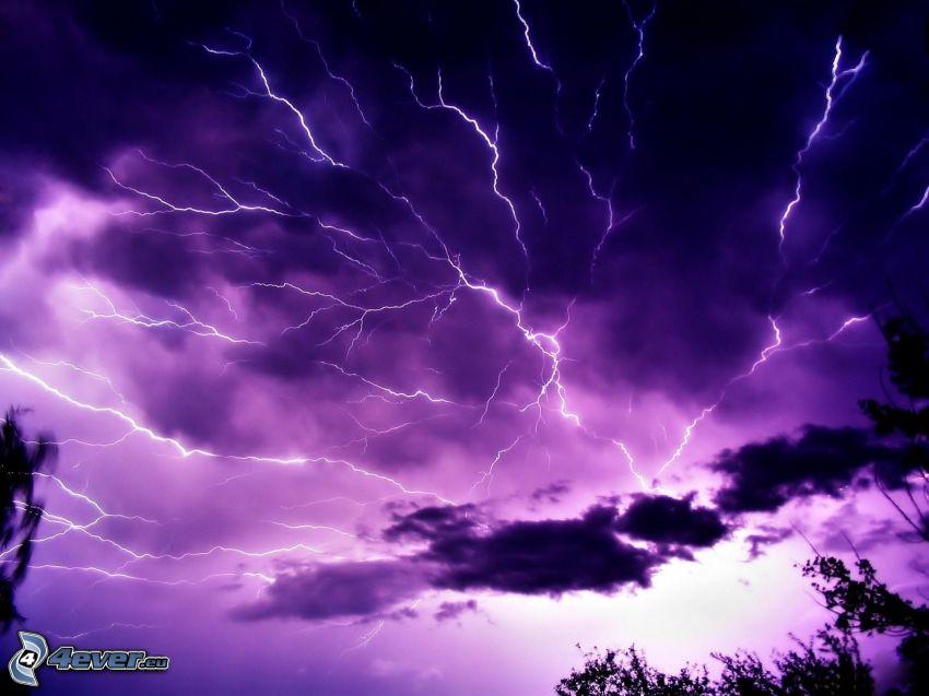 lightning, sky