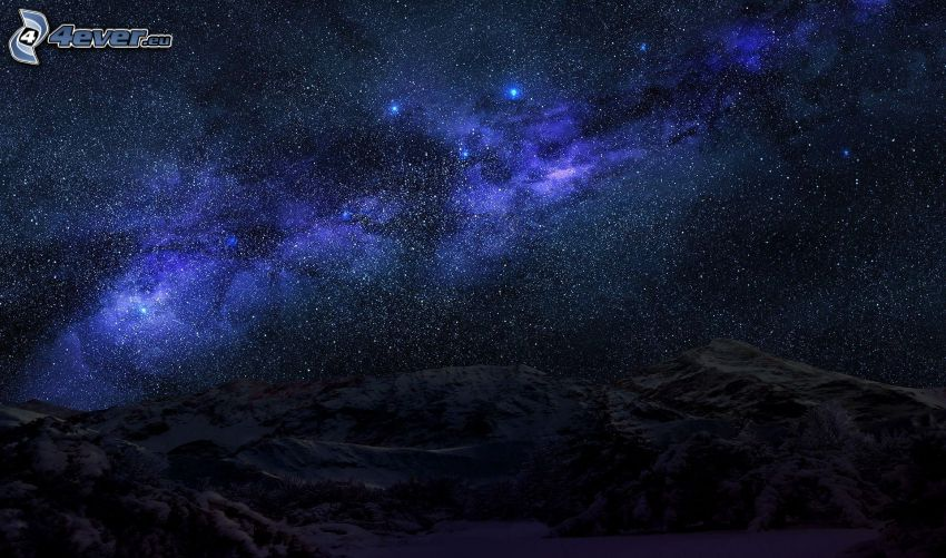 nebulae, mountains