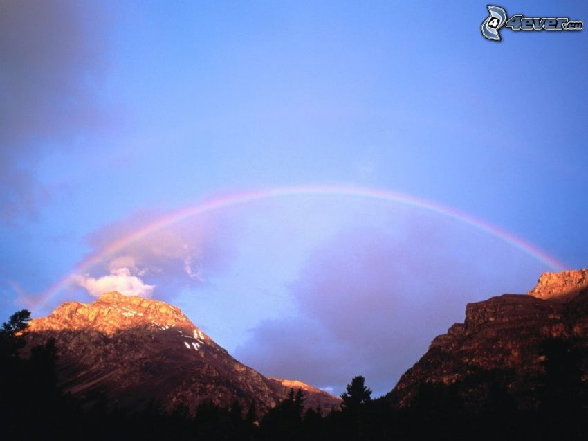 rainbow, rocky mountains