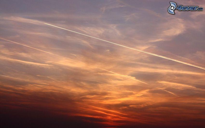sky, contrail