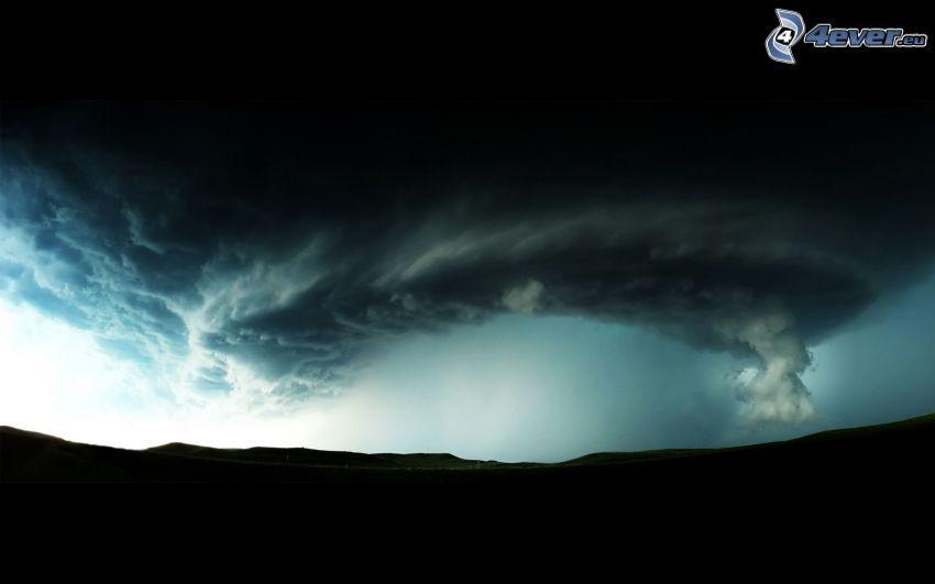 tornado, storm clouds