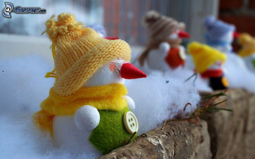 snowmen, hat