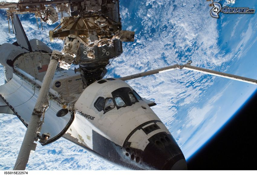 Endeavour attached to the ISS, International Space Station ISS