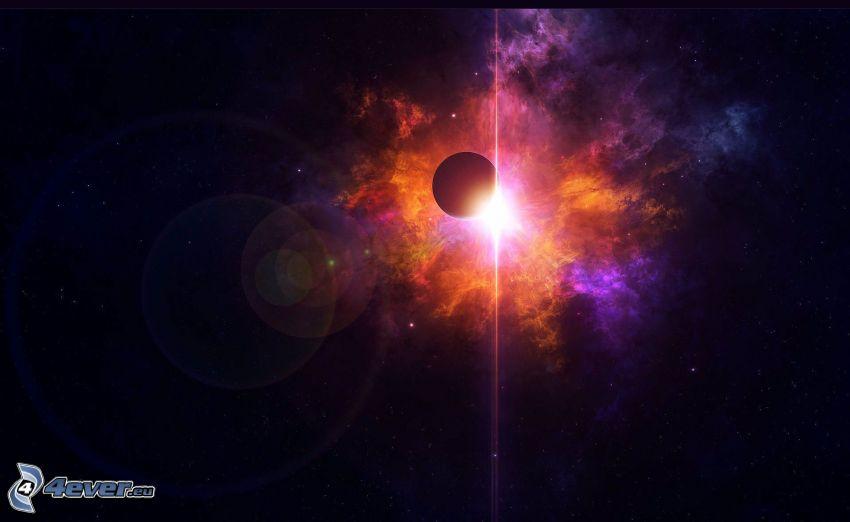 glow, planet, nebula