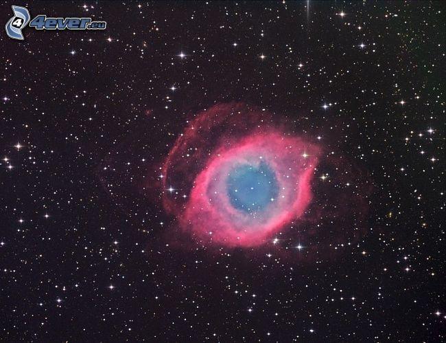 Helix Nebula, stars