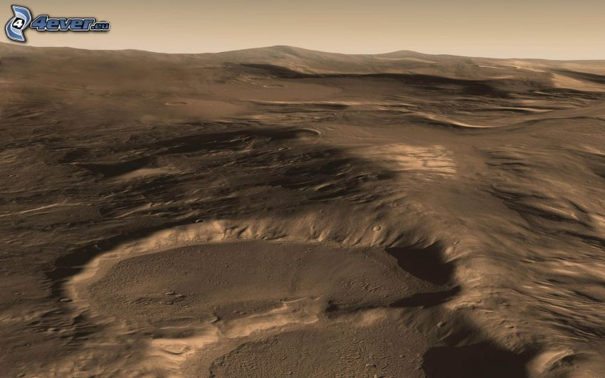 Hellas Planitia, Mars, crater