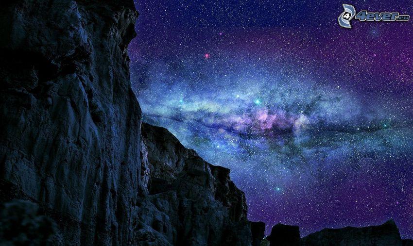 nebula, rocks
