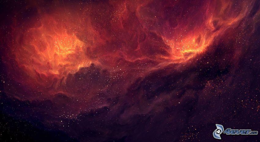 nebulae, stars