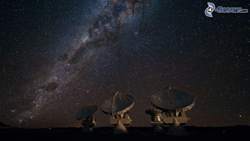 observatory, starry sky