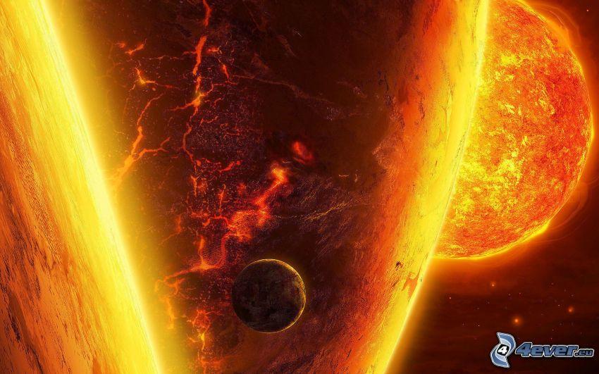 planet, sun