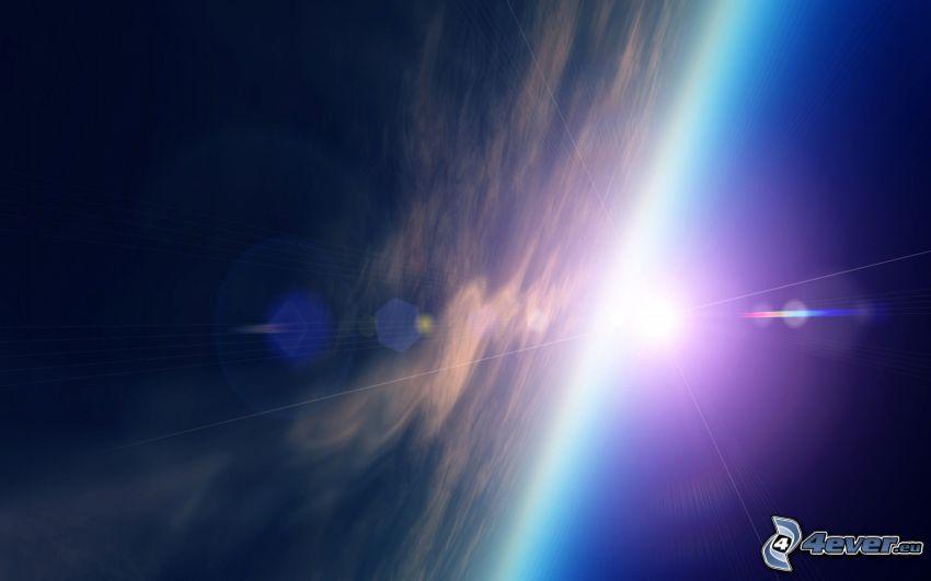 planet Earth, sun