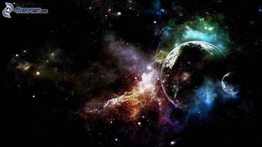 planets, nebula