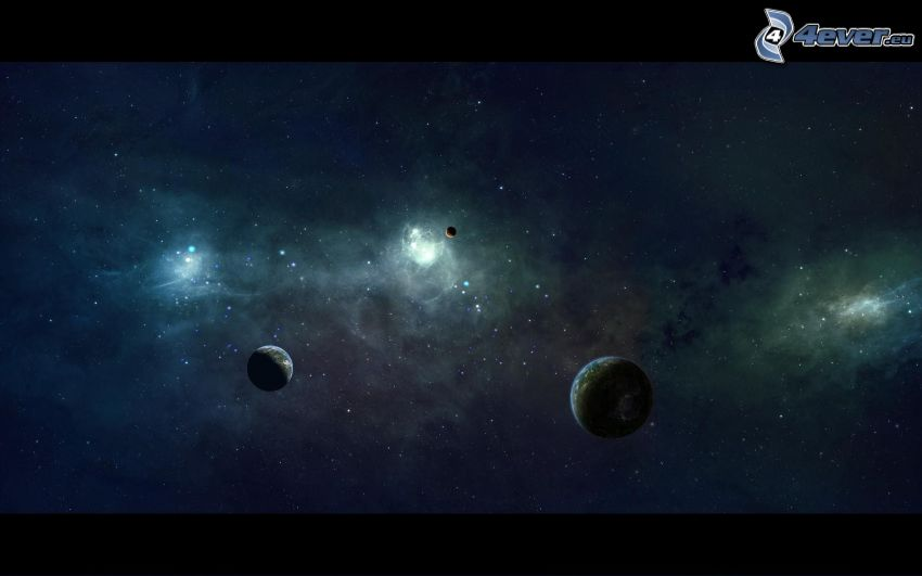 planets, starry sky, universe