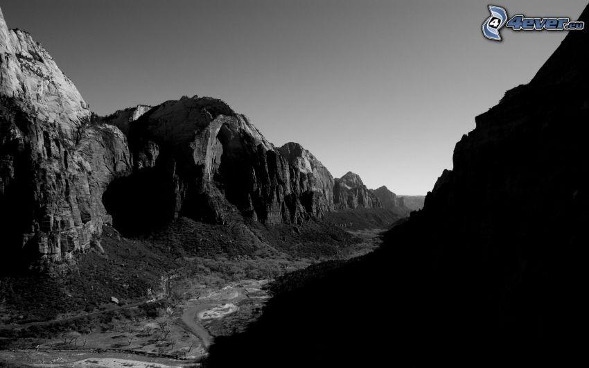 valley, mountain
