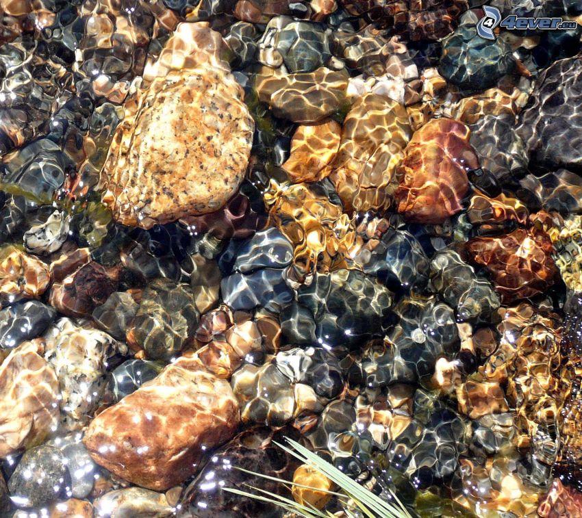 water, gravel, Yosemite National Park