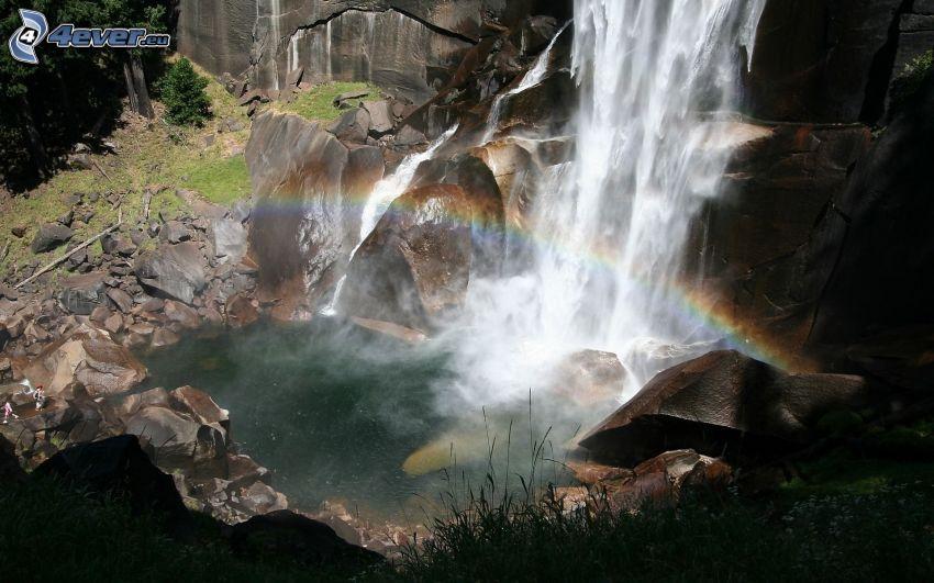 waterfall, rainbow
