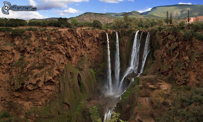 waterfalls, Morocco