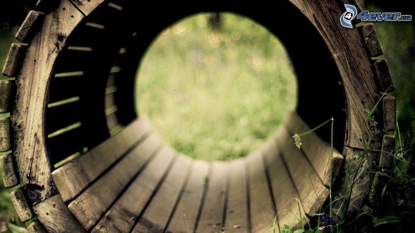 wood, circle