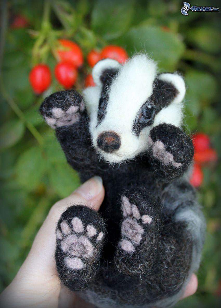 badger, cuddly toy, darts