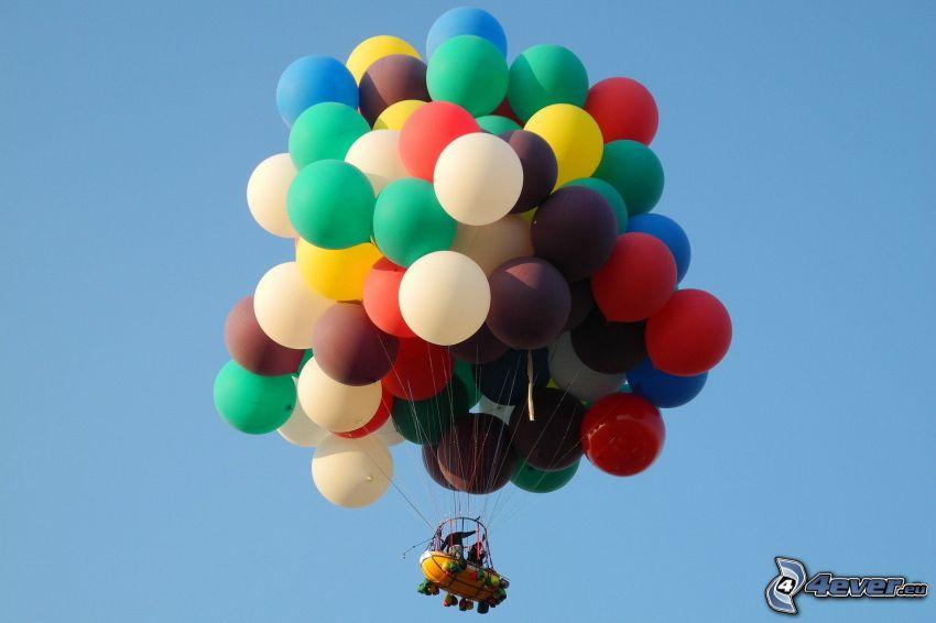 balloons, cart