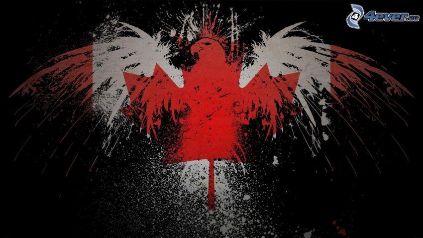 canadian flag, eagle