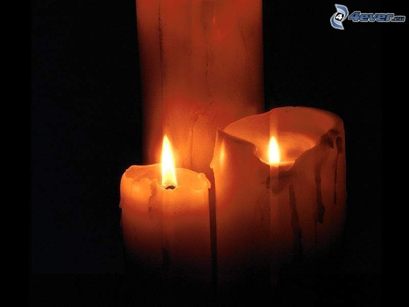 candle, darkness, fire