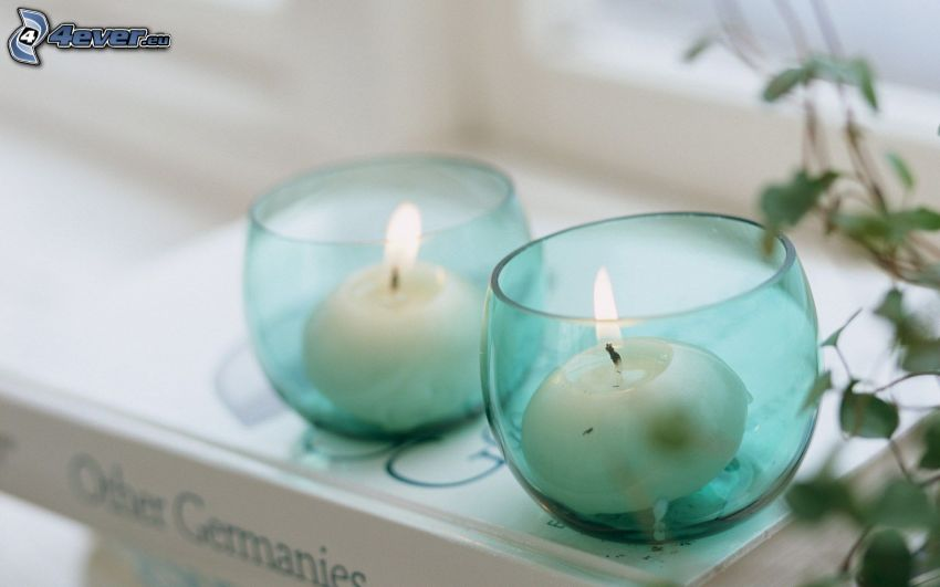candles, book