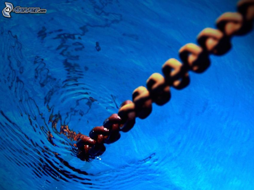 chain, water surface