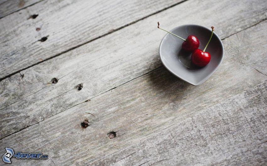 cherries, wood