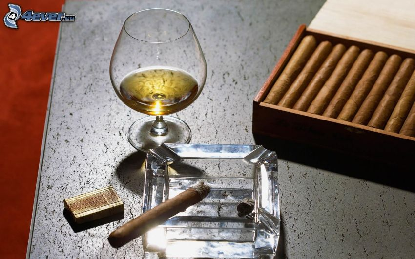 cigars, whisky