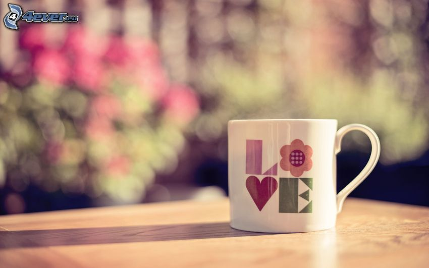 cup, love