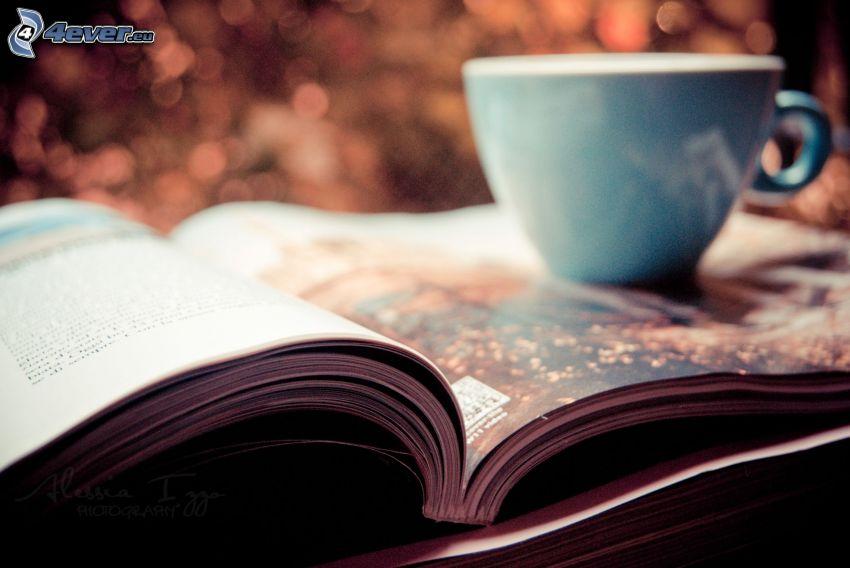 cup, magazine