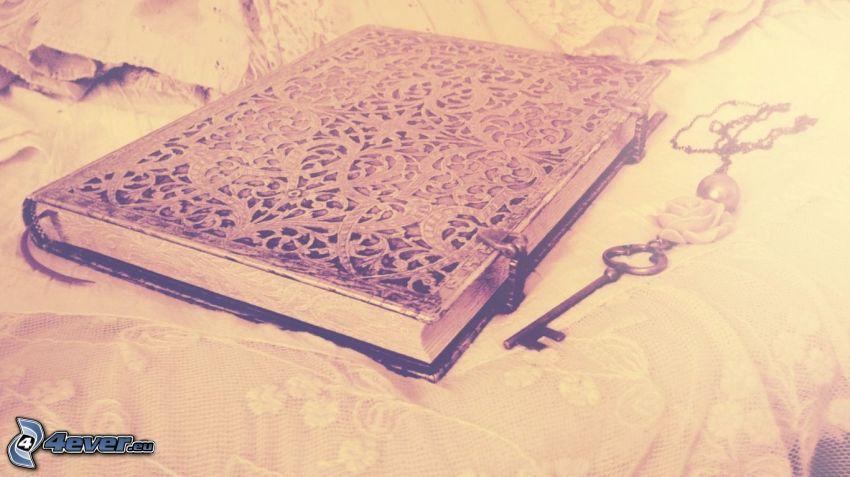 diary, key