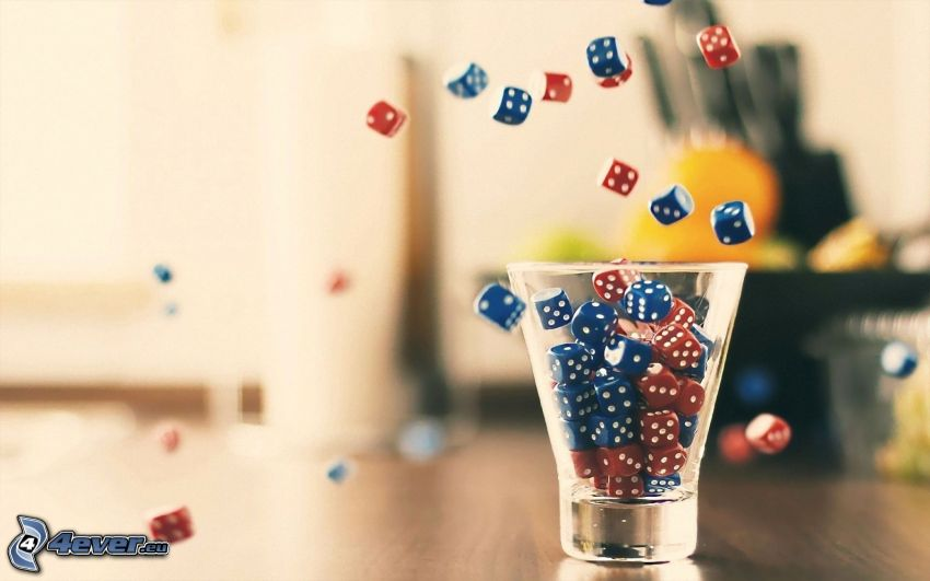 dices, cup