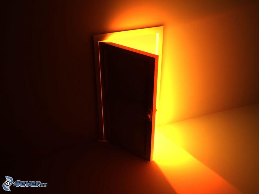 door, glow