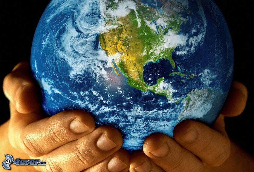 Earth, hands