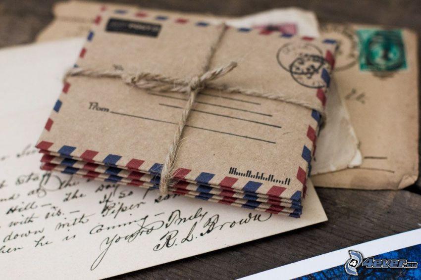 envelopes, string