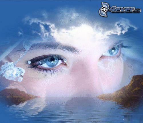 eyes, sea, sky