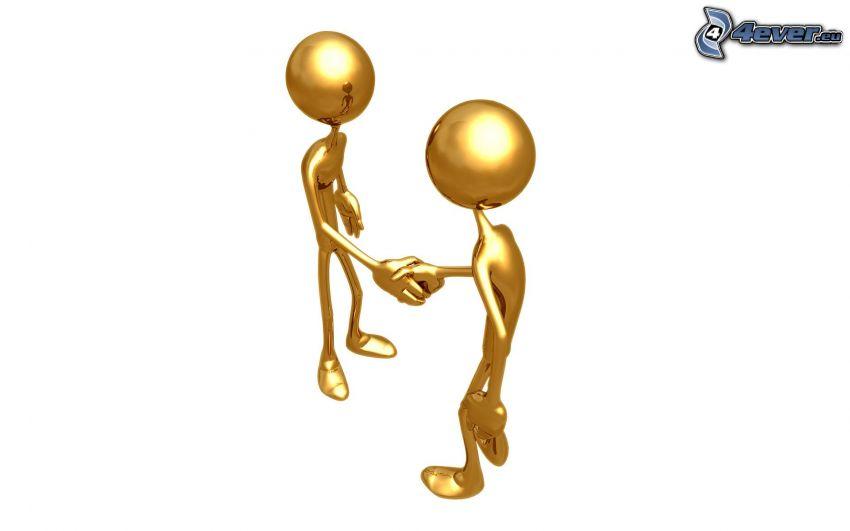 figures, handshake