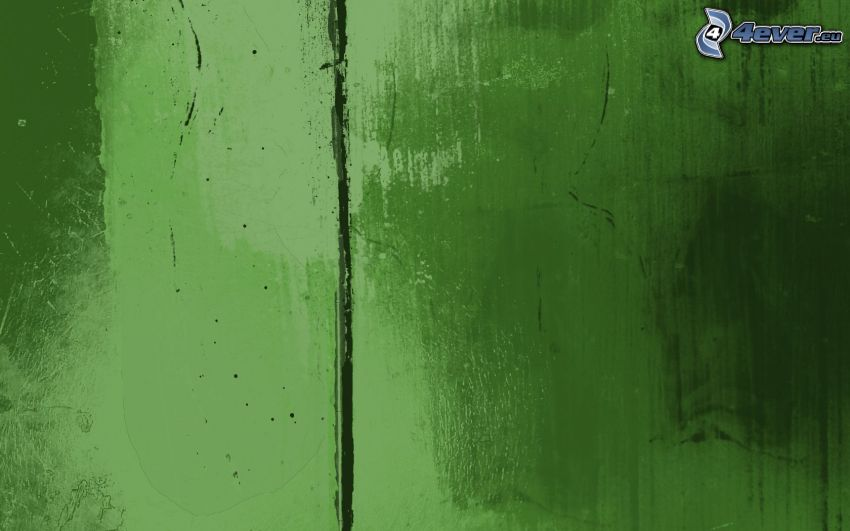 green background, crack