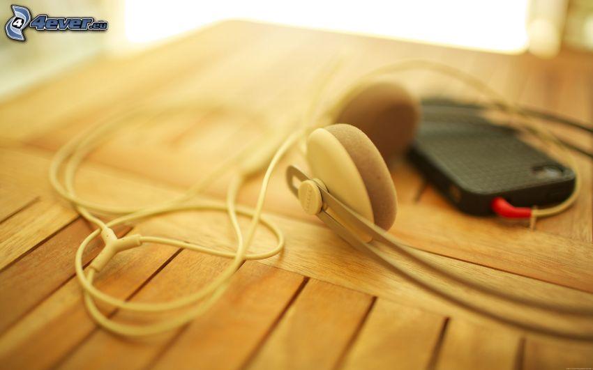 headphones, phone