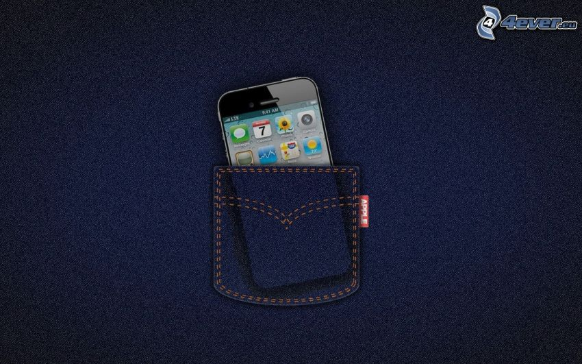iPhone, bag