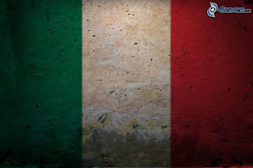 italian flag, wall