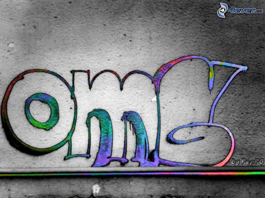 OMG, graffiti