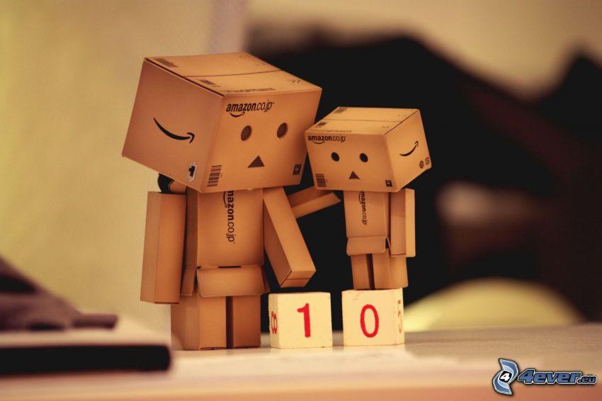 paper robot, dices