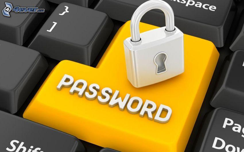 password, lock, keys