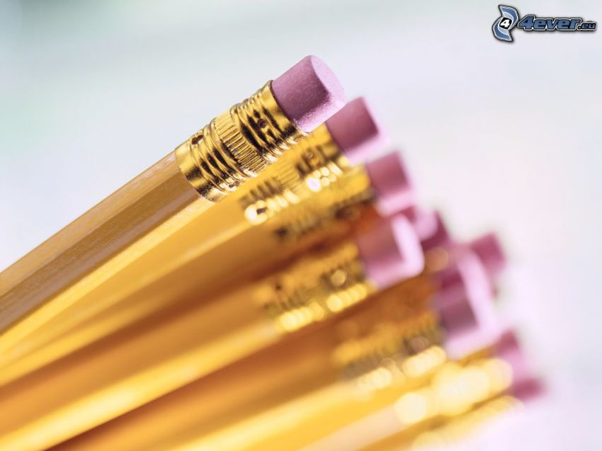 pencils, rubber