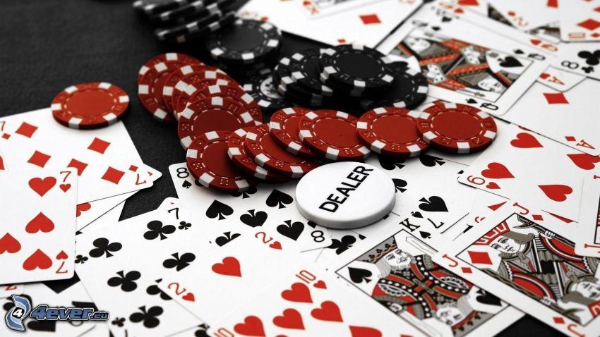poker, cards, jetons