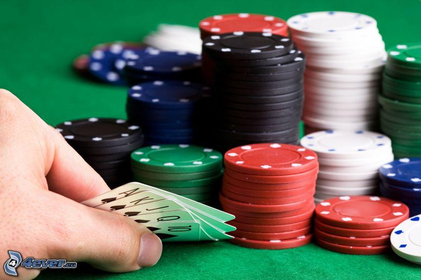 poker, jetons, cards
