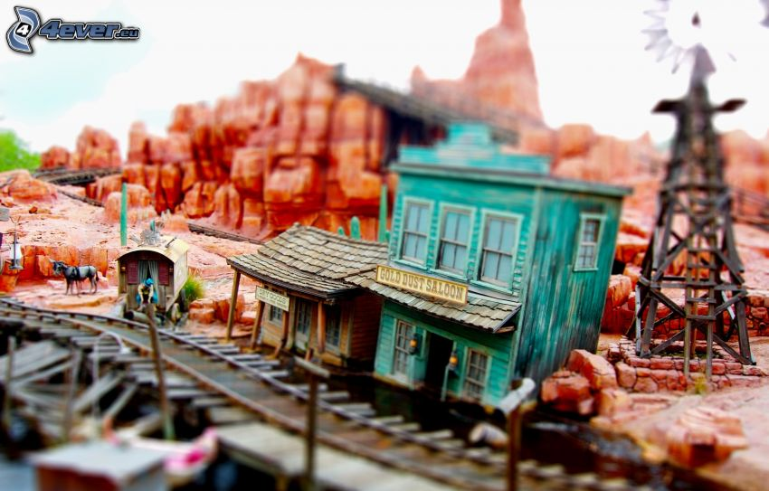 railway station, miniature